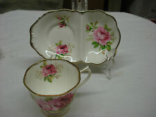 rare ASHTRAY TEA CUP & SAUCER 2 Royal Albert AMERICAN BEAUTY Made In England TR4