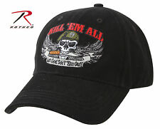 9599 Rothco Deluxe Kill 'Em All Low Profile Cap - Black