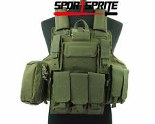 Tactical Molle  Strike Plate Carrier Combat  Airsoft Armor Vest  Maga Pouch Bags