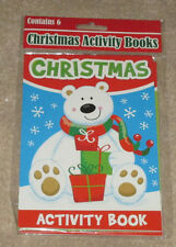 New Christmas Activity Books Contains 6 Stocking Stuffers Gift Bags (CS64)