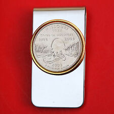 US 2003 Missouri State Quarter BU Uncirculated Coin Two Toned Money Clip New
