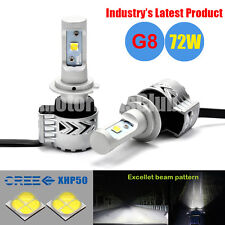 2016 New 72W 12000LM Cree LED Headlight Bulb Conversion Kit Bright H7 6000K Lamp