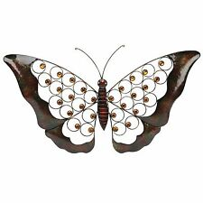 Butterfly and Crystal Wings Metal Wall Art WBMWA437