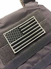 """Large 5x3"""" SWAT wolf grey US Made Military Tactical Hook/loop USA Flag patch"""