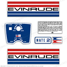 Evinrude 1973 2hp Outboard Decal Kit - Discontinued Decal Reproductions in Stock