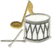 """2.75"""" Drum Drums Music Note Embroidery Patch"""