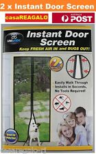 2x Instant Mesh Screen Door Magnetic Bug Mosquito Fly Pet Patio Net Hands Free
