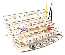 New Wooden Storage Rack For 40 Acrylic Tamiya Paint Mr Hobby Brush Color Plate