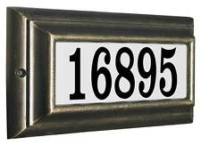 Edgewood, LTS-1300-FB, Standard Lighted Address Plaque in French Bronze