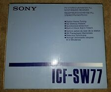 Sony ICF-SW77 Shortwave AM FM Premium Radio Receiver ***NEW & ORIGINAL BOX***