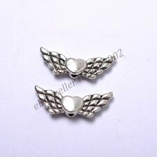 Tibetan Silver Heart Angel Wings Loose Spacer Beads Jewelry DIY Findings DB57