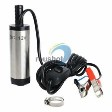 12V Stainless Steel Detachable Submersible Water Oil Diesel Transfer Pump 38mm