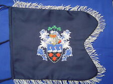 Coat of Arms / Family Crest Bagpipe Banner | Hand Embroidered by Geoffrey
