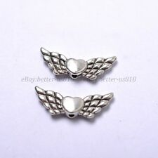 Tibetan Silver Gold Bronze Heart Angel Wing Spacer Charms Beads 22X9MM B57