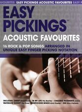 Easy Pickings Acoustic Favourites Learn Play Finger Picking Guitar Music Book