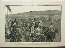 1900 VICTORIAN BOER WAR PRINT ~ QUEEN REVIEWING HER TROOPS PHONEIX PARK DUBLIN