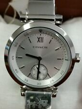 New COACH Women PHOEBE Bangle Bracelet Watch Stainless Steel 14mm NWT