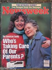 Newsweek Magazine  May 6, 1985  Who's Taking Care Of Our Parents  VINTAGE ADS