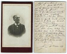 Photo cdv portrait d'un vieil homme et modifications à apporter 1900 Curiosités