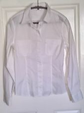 ADEC 2 BY PHILLIPE ADEC PARIS WHITE Cotton Long Sleeve/Cuff Shirt Blouse XL 14
