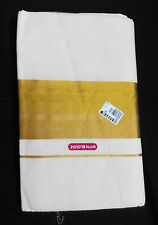 Unbleached traditional Kerala handloom saree