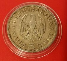 Germany Nazi 5 Reichsmark 1935 A .900 Silver Coin Prot Caps 470