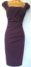 New LK Bennett 6 Sexy Tina Ruched Tailored Crepe Pencil Wiggle Shift Dress £225