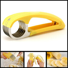 Banana Slicer Cutter Chopper Cucumber Gherkins Bananza New Kitchen Tool Splitter