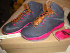 2013 NIKE LEBRON X 10 EXT DENIM QS US 8.5 UK 7.5 42 CORK SUEDE 597806-400 BLACK