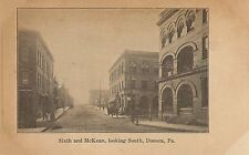 Sixth and McKean Looking South in Donora PA Postcard