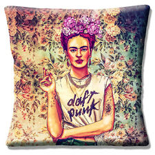 "NEW FRIDA KAHLO FOLKLORE FAB CIRAOLO MODERN ART DESIGN  16"" Pillow Cushion Cover"