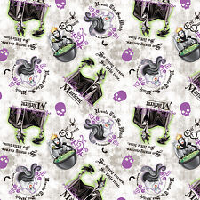 Disney Villans Patch 100% Cotton Fabric by the Yard PRE-ORDER