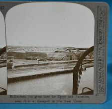 WW1 Stereoview El-Kantara Base For Egypt & Palestine Suez Realistic Travels
