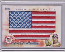 2012 TOPPS OLYMPIC MISTY MAY-TREANOR FLAG PATCH CARD ~ BEACH VOLLEYBALL