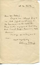 Patricia Collinge Shadow of a Doubt The Little Foxes Rare Signed Autograph ALS