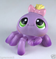 Littlest Pet Shop Spider #136 Lavender Purple With Green Eyes