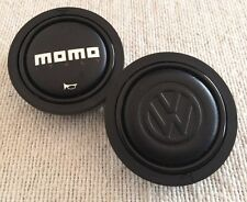 VW, Karmann or Wolfsburg embossed leather cup for MOMO horn button