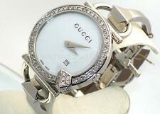 NEW LADIES GUCCI 122 CHIODO YA122501 WHITE 1ct APPROXIMATELY DIAMOND WATCH ****