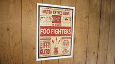 The Foo Fighters Milton Keynes Bowel Repro Tour POSTER