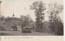Iowa Ia Postcard 1907 CEDAR RAPIDS Bever Park Cannon Gazebo Kids