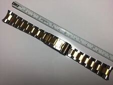 SOLID 20MM T/T OYSTER BAND BRACELET FOR ROLEX SUBMARINER FAT SPRING BAR F/LOCK