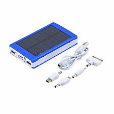 Blue 80000mAh USB Solar Power Bank External Battery Charger for Phone Laptop