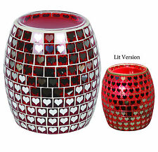 Aroma Accessories - ELECTRIC WAX MELT TART BURNER - Heart Hearts Red Mosaic