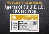 Agents Of SHIELD ID Badge / Card Prop   CUSTOM W YOUR PHOTO & INFO   PVC Plastic