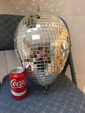 VTG DISCO PARTY BALL EGG SHAPE SPHERE MIRROR MOSAIC 70s HANGING DJ DANCE LARGE