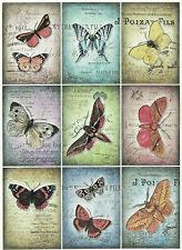 Papel De Arroz Para Decoupage, Scrapbook hoja, papel del arte Vintage Mariposas