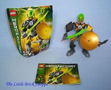 Lego Hero Factory cerebro ataque 44002 Rocka-Completa Con Instrucciones & Pack