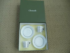 New in Box 2 CHRISTOFLE Demitasse Sets