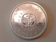 Canada 1964 Charlottetown Quebec Commemorative Silver Dollar Proof Like