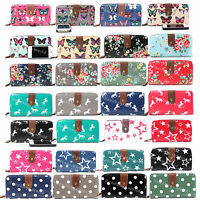 Ladies/Womens Large Oilcloth Flower Dot Owl Purse and Wallets Girl Coin Purse